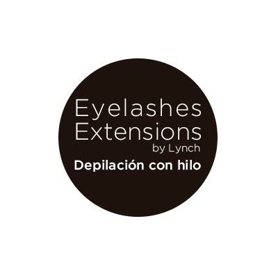Logo eyelashes extensions